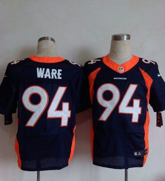 Nike Denver Broncos 94 DeMarcus Ware blue Elite NFL Jerseys