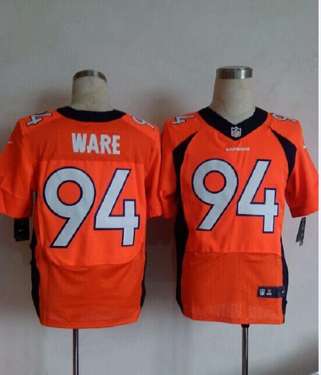 Nike Denver Broncos 94 DeMarcus Ware Orange elite NFL Jerseys