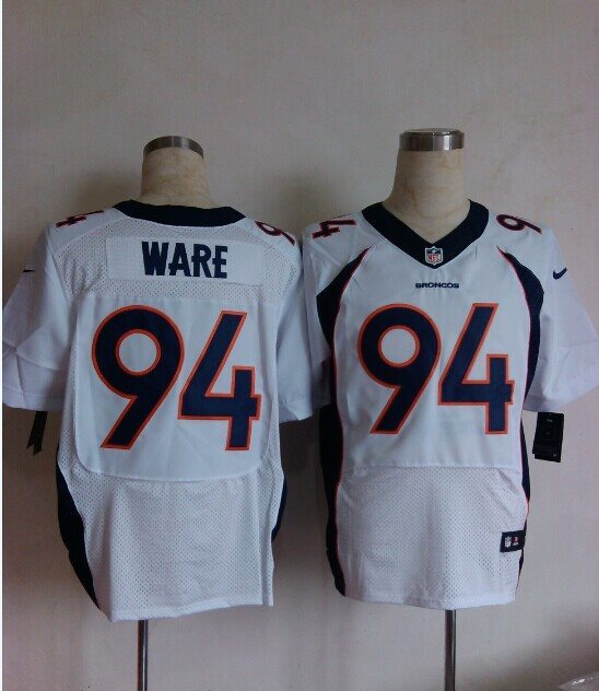Nike Denver Broncos 94 DeMarcus Ware white Elite NFL Jerseys