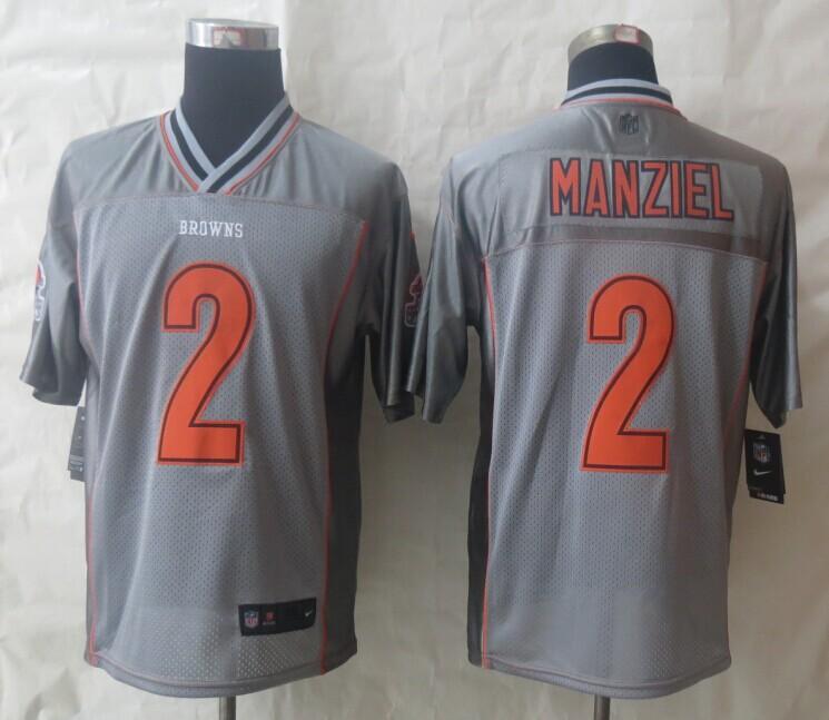2014 NEW Nike Cleveland Browns 2 Manziel Grey Vapor Elite Jerseys