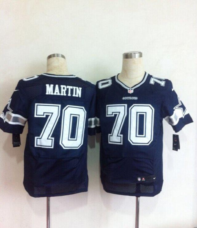 2014 Nike NFL Dallas Cowboys 70 Zack Martin blue Elite jerseys