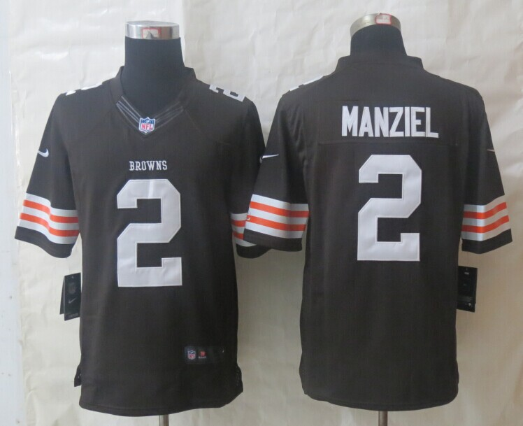 Nike Cleveland Browns 2 Manziel Brown Limited Jerseys