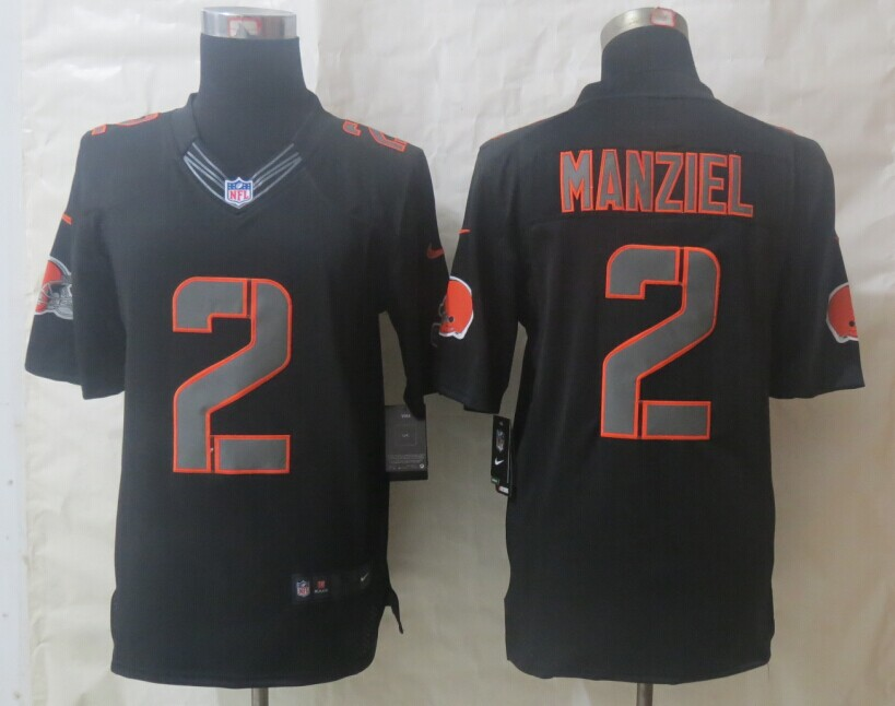 Nike Cleveland Browns 2 Manziel Impact Limited Black Jerseys