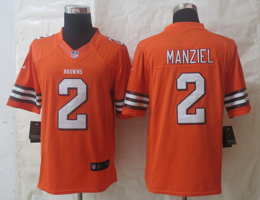 Nike Cleveland Browns 2 Manziel Orange Limited Jerseys