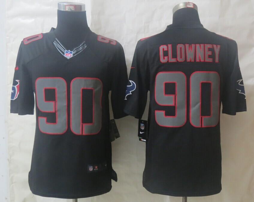 Nike Houston Texans 90 Clowney Impact Limited Black Jerseys