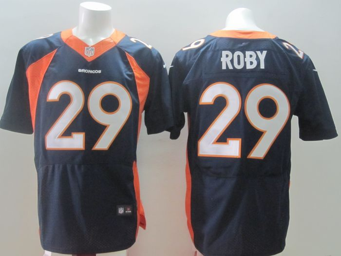 2014 Nike NFL Denver Broncos 29 Roby blue Elite jerseys