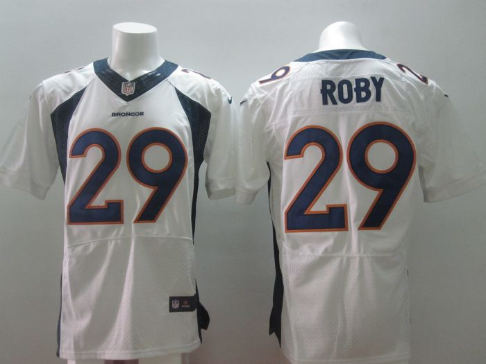 2014 Nike NFL Denver Broncos 29 Roby white Elite jerseys