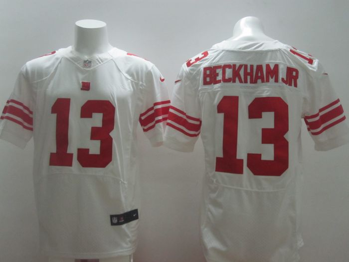 2014 Nike NFL New York Giants#13 Beckham Jr. Royal white Elite jerseys