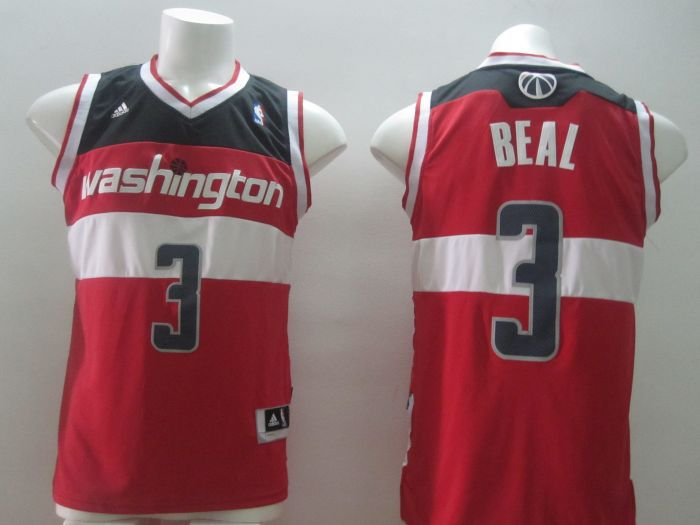 NBA Washington Wizards 3 Bradley Beal Authentic red Jersey