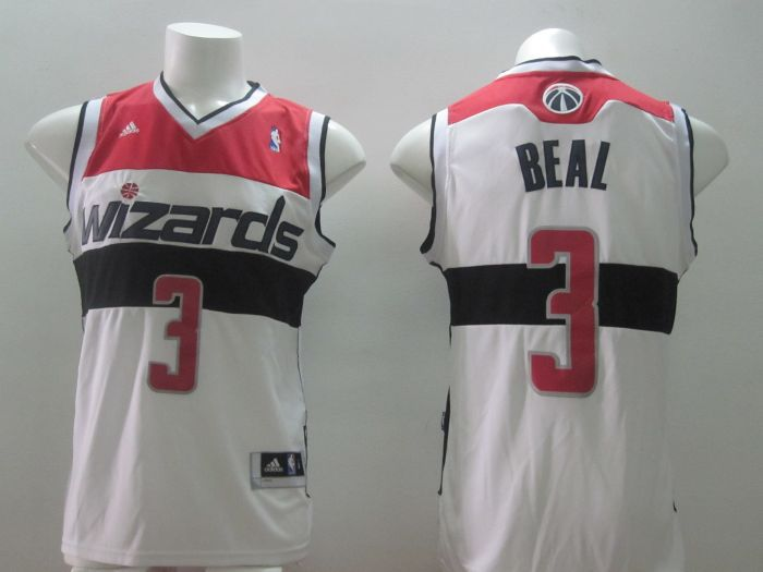 NBA Washington Wizards 3 Bradley Beal Authentic White Jersey