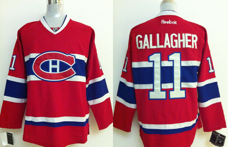 NHL Jerseys Montreal Canadiens #11 GALLAGHER Red Jersey