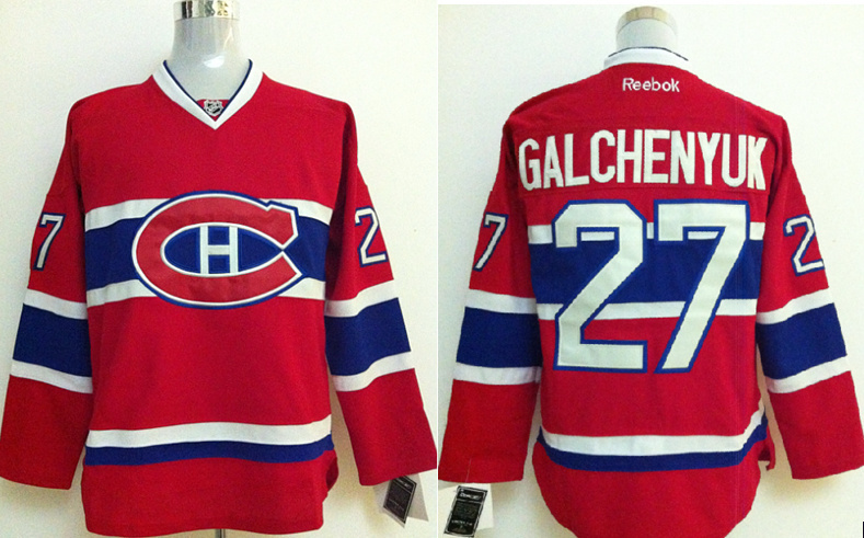NHL Jerseys Montreal Canadiens #27 GALCHENYUK Red Jersey