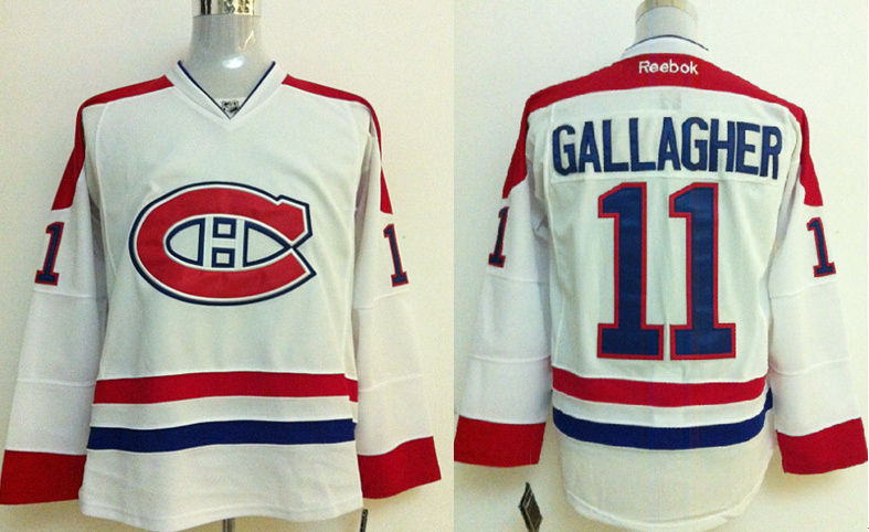 NHL Jerseys Montreal Canadiens #11 GALLAGHER white Jersey
