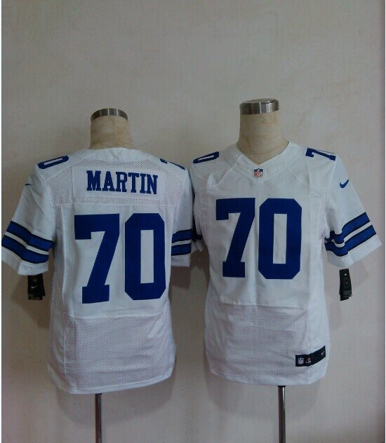 2014 Nike NFL Dallas Cowboys 70 Zack Martin white Elite jerseys