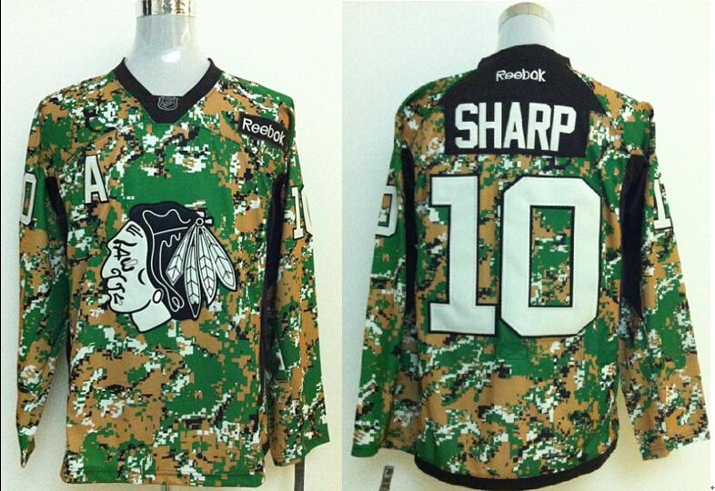 2014 NHL Chicago Blackhawks 10 Patrick Sharp Camo Jersey