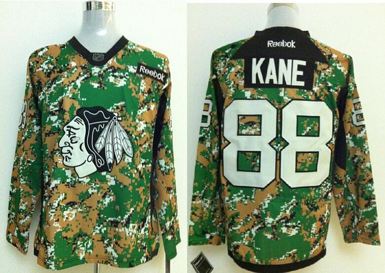 2014 NHL Chicago Blackhawks 88 Kane Camo Jersey