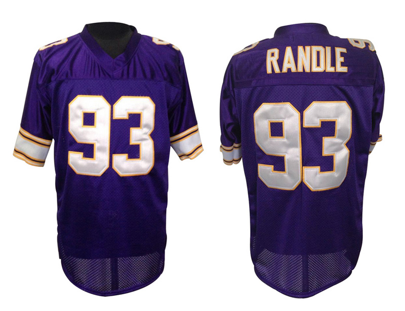 Minnesota Vikings 93 John Randle Purple throwback jerseys