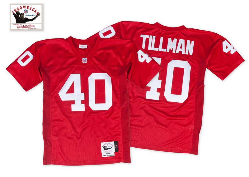 Arizona Cardinals 40 Tillman red Throwback Jerseys