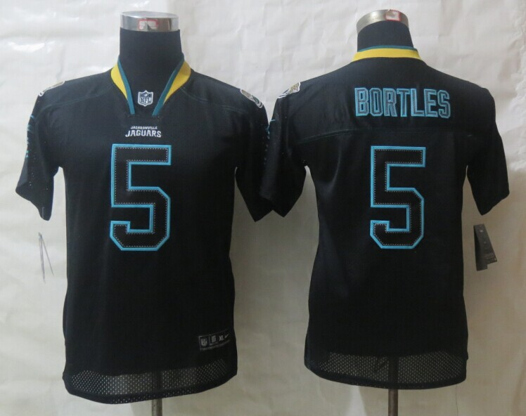 Youth 2014 Nike Jacksonville Jaguars 5 Bortles Lights Out Black Elite Jerseys