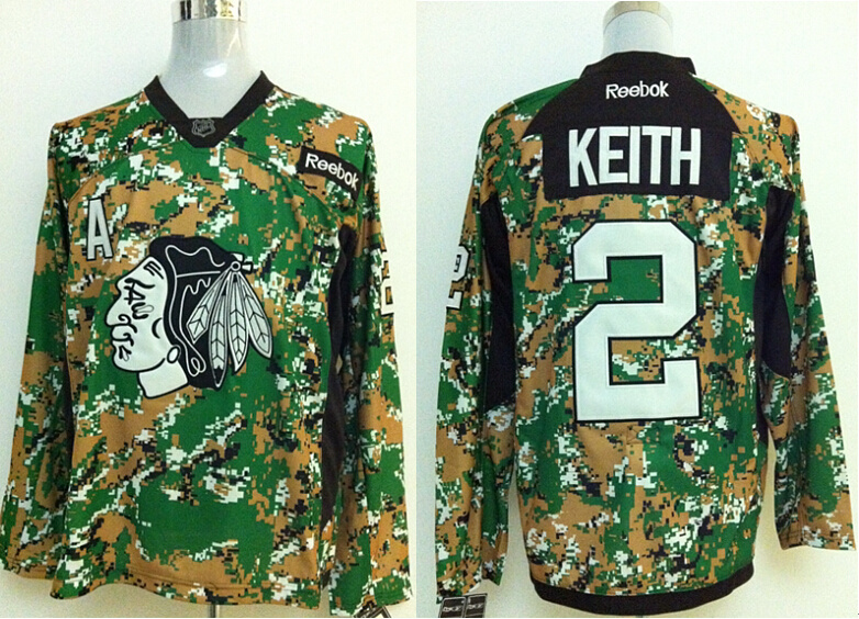 2014 NHL Chicago Blackhawks 2 Keith Camo Jersey