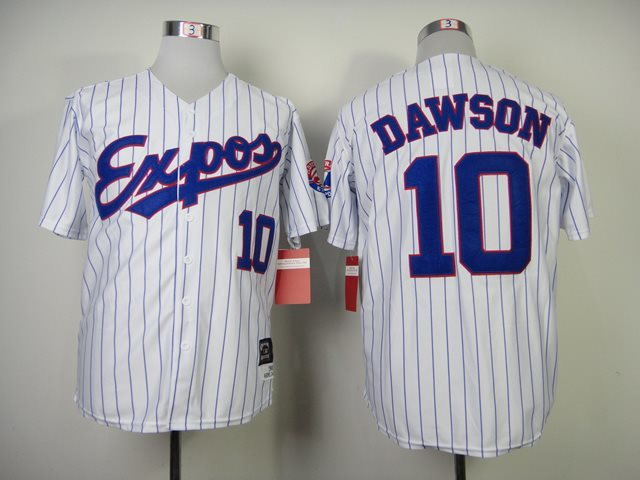 MLB EXPOS 10 Dawson white jerseys