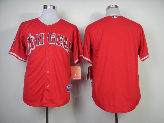 MLB Los Angeles Angels blank red jerseys