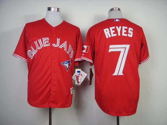 MLB Toronto Blue Jays 7 Reyes Red Baseball Jersey
