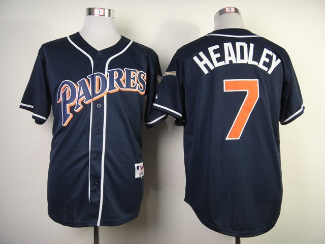San Diego Padres 7 Headley blue jerseys