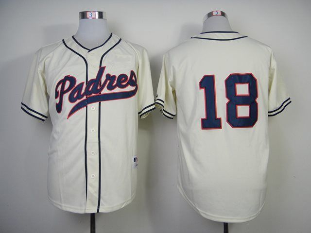San Diego Padres 18 cream jerseys