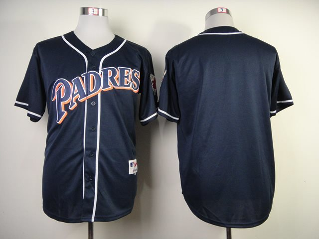 San Diego Padres blank blue jerseys