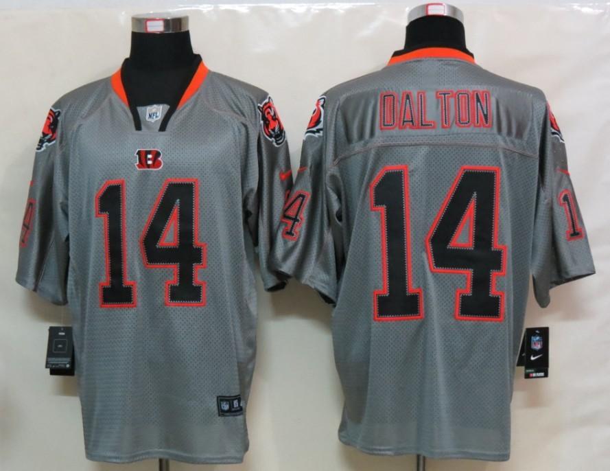 New Nike Cincinnati Bengals 14 Dalton Lights Out Grey Elite Jersey