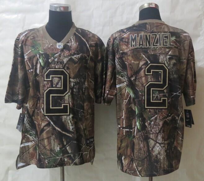 New Nike Cleveland Browns 2 Manziel Camo Elite Jerseys