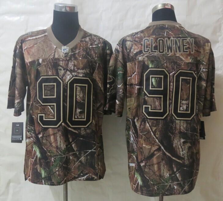 New Nike Houston Texans 90 Clowney Camo Elite Jerseys