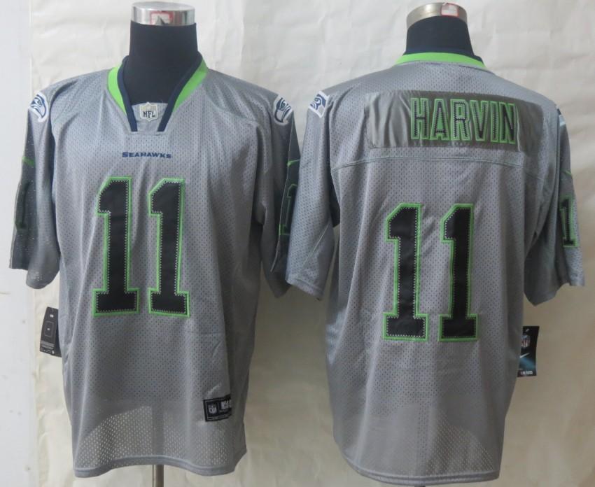 New Nike Seattle Seahawks 11 Harvin Lights Out Grey Elite Jersey