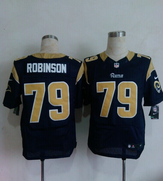 2014 Nike NFL St. Louis Rams 79 ROBINSON blue Elite Jerseys