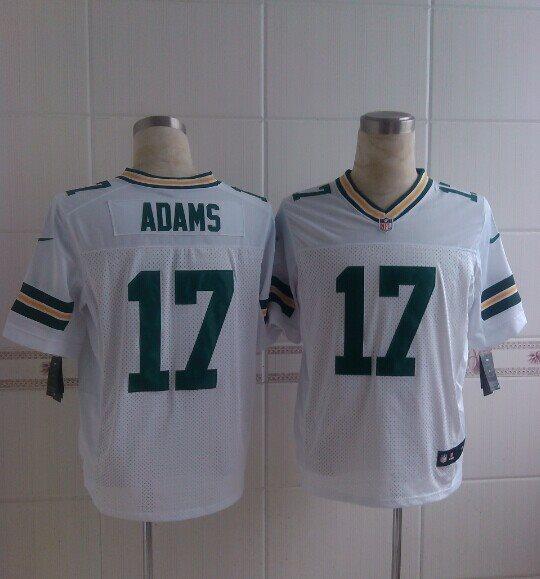 Nike Green Bay packers 17 Adams Davante white 2014 Elite Jerseys