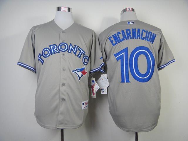 MLB Toronto Blue Jays 10 Edwin Encarnacion grey Baseball Jersey