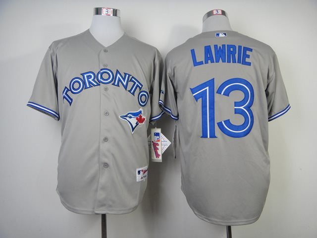 MLB Toronto Blue Jays 13 Lawrie grey Baseball Jersey