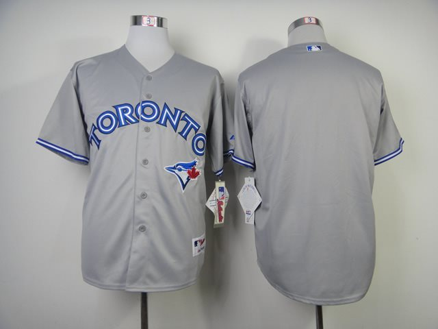 MLB Toronto Blue Jays blank grey Baseball Jersey
