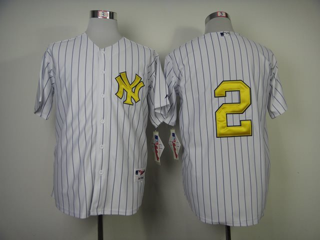 MLB Jersey New York Yankees 2 Derek Jeter fash jerseys