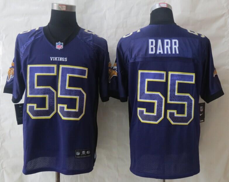 Minnesota Vikings 55 Barr Drift Fashion Purple New Nike Elite Jerseys