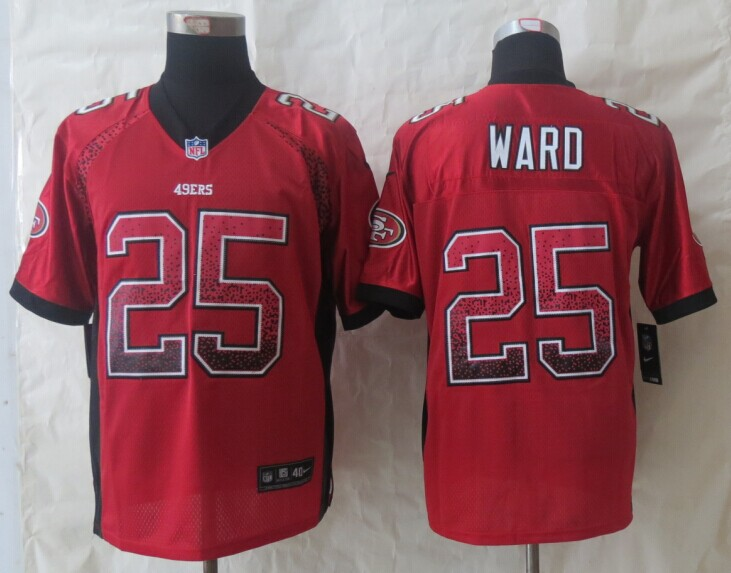 San Francisco 49ers 25 Ward Drift Fashion Red New Nike Elite Jerseys