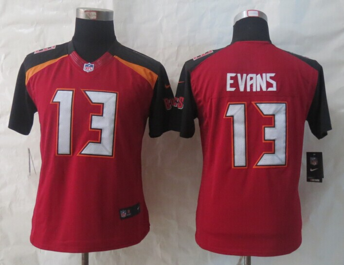 Womens Tampa Bay Buccaneers 13 Evans Red 2014 New Nike Limited Jerseys