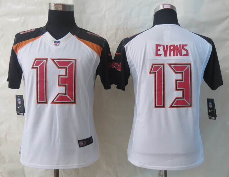 Womens Tampa Bay Buccaneers 13 Evans White 2014 New Nike Limited Jerseys