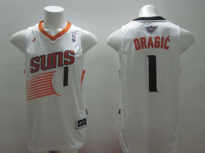 NBA Phoenix Suns 1 Dragic White 2014 Jerseys