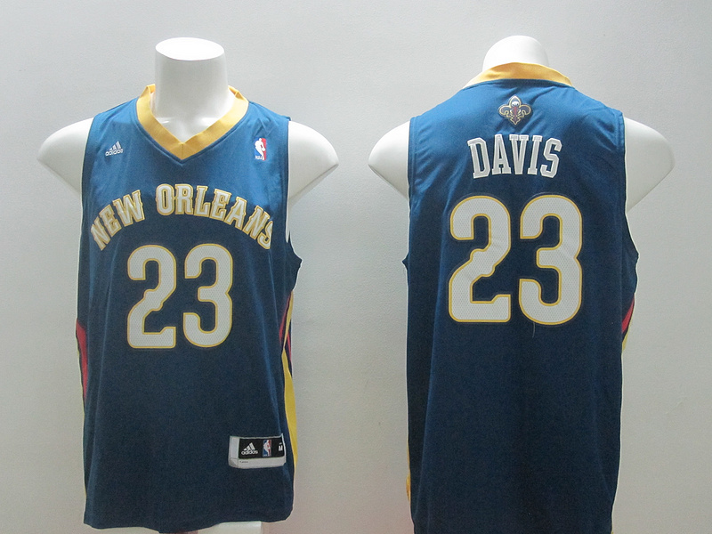 NBA New Orleans Pelicans 23 Anthony Davis new revolution 30 blue jersey
