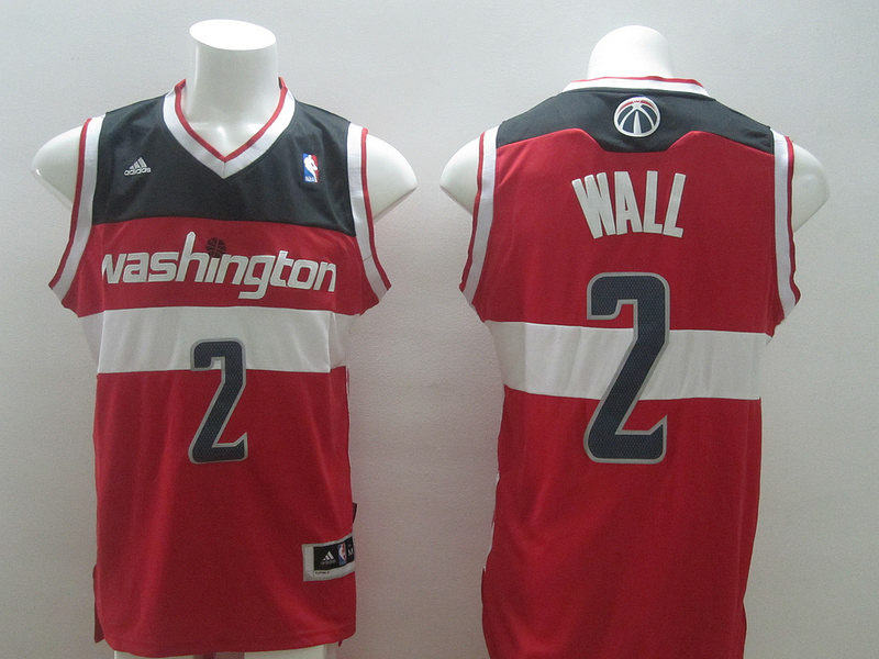NBA Washington Wizards 2 John Wall Red 2014 Jerseys