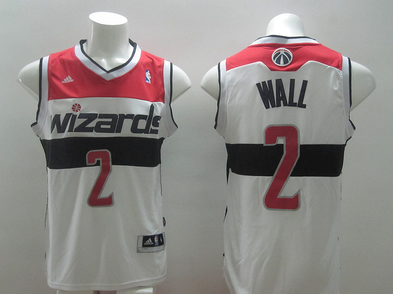 NBA Washington Wizards 2 John Wall White 2014 Jerseys