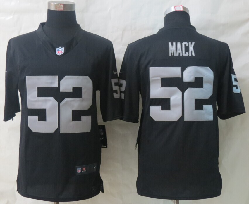 Oakland Raiders 52 Mack Black New Nike Limited Jerseys