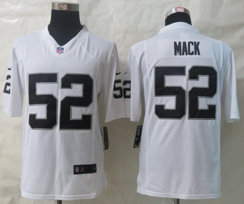 Oakland Raiders 52 Mack White New Nike Limited Jerseys